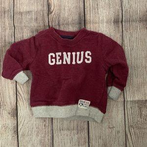 "⭐️10/$20⭐️ Baby boy ""Genius"" sweatshirt"